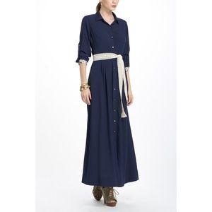 Anthropologie Isabella Sinclair M Navy maxi dress
